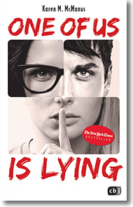 "Cover: Karen M. McManus ""One of us is lying"""