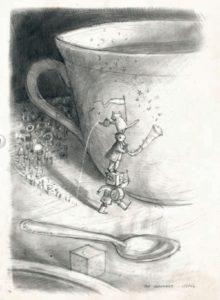 """Shaun Tan: Seite aus """"Der Vogelkönig und andere Skizzen"""""""